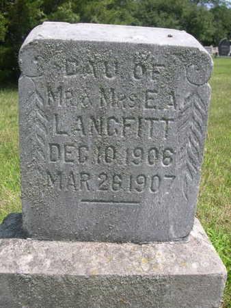 LANGFITT, DAUGHTER OF E.A. - Dallas County, Iowa | DAUGHTER OF E.A. LANGFITT