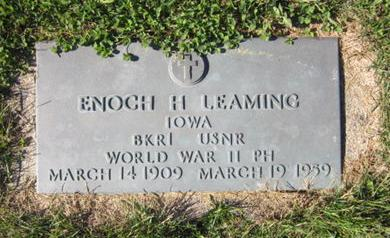 LEAMING, ENOCH H - Dallas County, Iowa   ENOCH H LEAMING