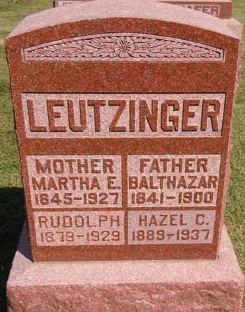 LEUTZINGER, RUDOLPH - Dallas County, Iowa | RUDOLPH LEUTZINGER