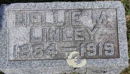 LINLEY, NELLIE M - Dallas County, Iowa   NELLIE M LINLEY