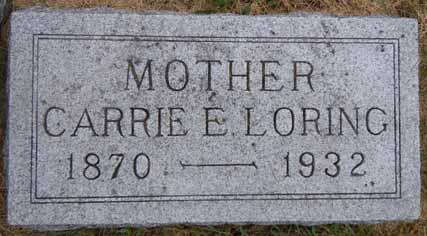 LORING, CARRIE E - Dallas County, Iowa   CARRIE E LORING