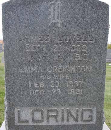 LORING, JAMES LOVELL - Dallas County, Iowa   JAMES LOVELL LORING