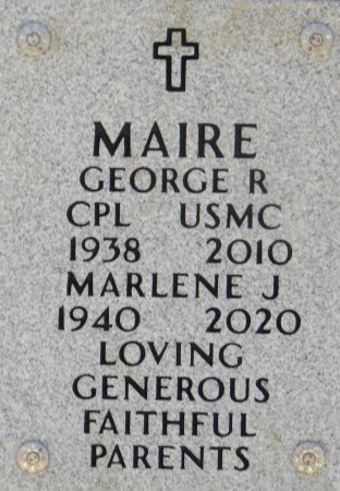 MAIRE, MARLENE J - Dallas County, Iowa   MARLENE J MAIRE