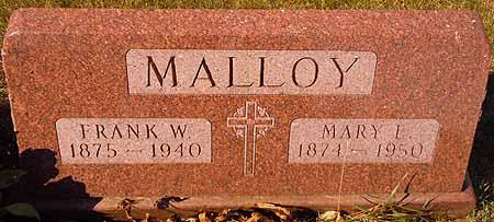 MALLOY, FRANK W. - Dallas County, Iowa   FRANK W. MALLOY