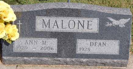 MALONE, ANN M - Dallas County, Iowa   ANN M MALONE