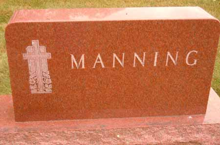 MANNING, FAMILY STONE - Dallas County, Iowa | FAMILY STONE MANNING