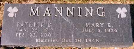 MANNING, PATRICK D. - Dallas County, Iowa   PATRICK D. MANNING