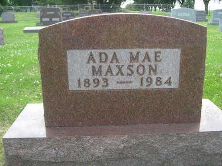 MAXSON, ADA MAE - Dallas County, Iowa | ADA MAE MAXSON
