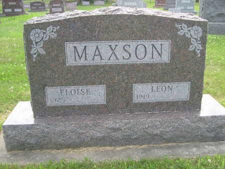 MAXSON, LEON - Dallas County, Iowa | LEON MAXSON