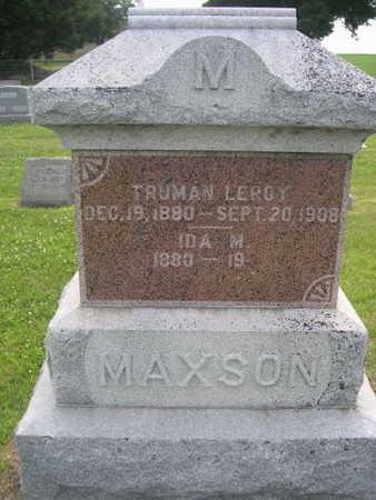 MAXSON, IDA M. - Dallas County, Iowa | IDA M. MAXSON