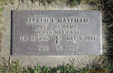MAYFIELD, ALFRED L - Dallas County, Iowa | ALFRED L MAYFIELD
