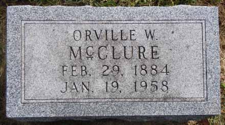 MCCLURE, ORVILLE W - Dallas County, Iowa | ORVILLE W MCCLURE