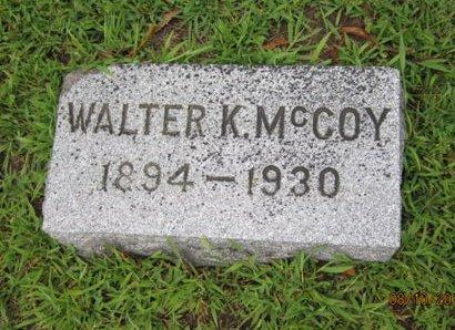 MCCOY, WALTER K - Dallas County, Iowa   WALTER K MCCOY