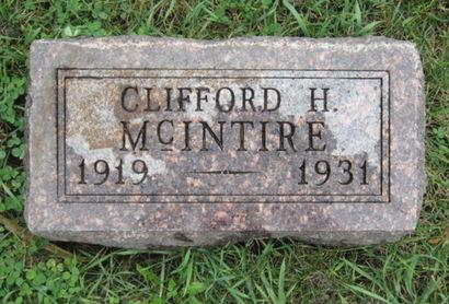 MCINTIRE, CLIFFORD H - Dallas County, Iowa   CLIFFORD H MCINTIRE