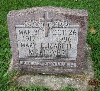 MCKEEVER, MARY ELIZABETH - Dallas County, Iowa | MARY ELIZABETH MCKEEVER