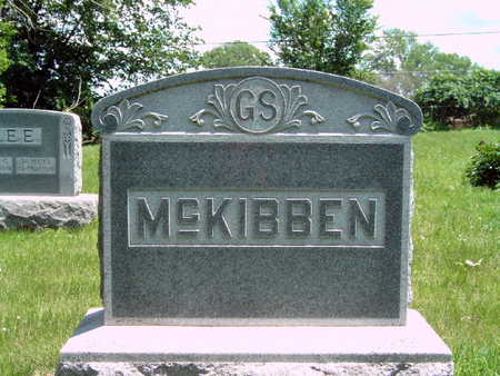 MCKIBBEN, G S FAMILY STONE - Dallas County, Iowa   G S FAMILY STONE MCKIBBEN