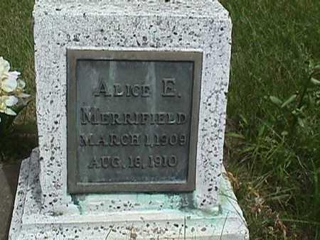 MERRIFIELD, ALICE E. - Dallas County, Iowa | ALICE E. MERRIFIELD