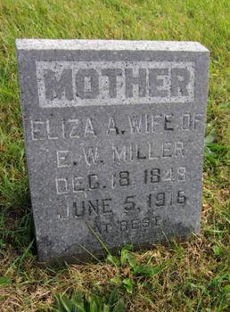 MILLER, ELIZA A - Dallas County, Iowa   ELIZA A MILLER