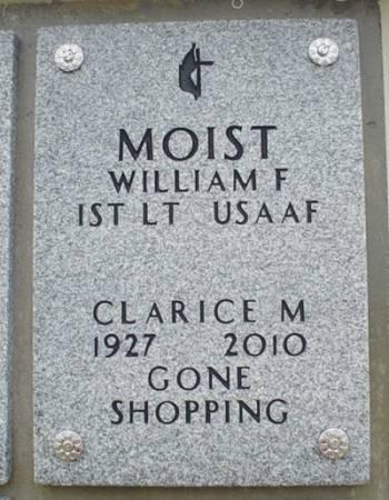 MOIST, CLARICE M. - Dallas County, Iowa   CLARICE M. MOIST