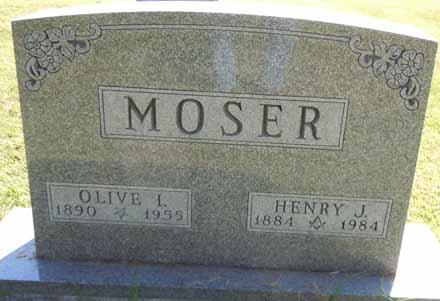 MOSER, OLIVE I - Dallas County, Iowa | OLIVE I MOSER