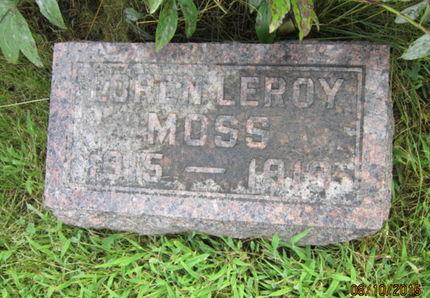 MOSS, LOREN LEROY - Dallas County, Iowa   LOREN LEROY MOSS