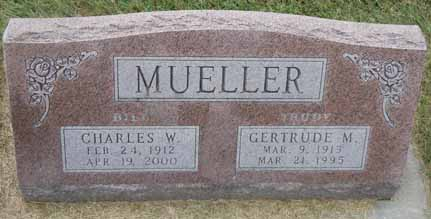 MUELLER, CHARLES W - Dallas County, Iowa   CHARLES W MUELLER