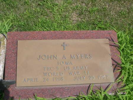 MYERS, JOHN A. - Dallas County, Iowa   JOHN A. MYERS