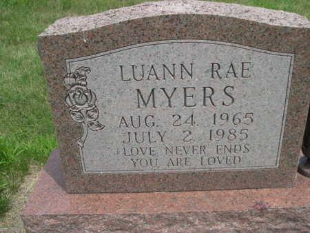 MYERS, LUANN RAE - Dallas County, Iowa | LUANN RAE MYERS