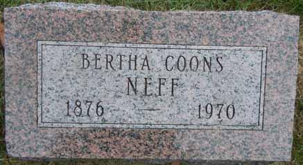COONS NEFF, BERTHA - Dallas County, Iowa | BERTHA COONS NEFF