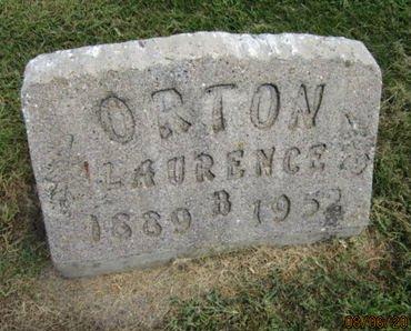 ORTON, LAURENCE B - Dallas County, Iowa   LAURENCE B ORTON