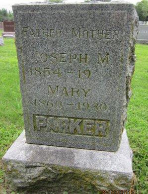 PARKER, JOSEPH M - Dallas County, Iowa   JOSEPH M PARKER