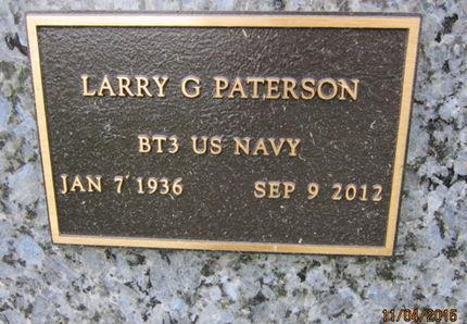 PATERSON, LARRY G - Dallas County, Iowa   LARRY G PATERSON