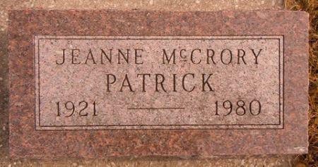 MCCRORY PATRICK, JEANNE - Dallas County, Iowa | JEANNE MCCRORY PATRICK