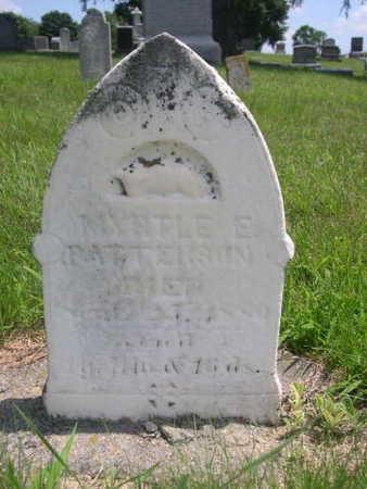 PATTERSON, MYRTLE E. - Dallas County, Iowa   MYRTLE E. PATTERSON