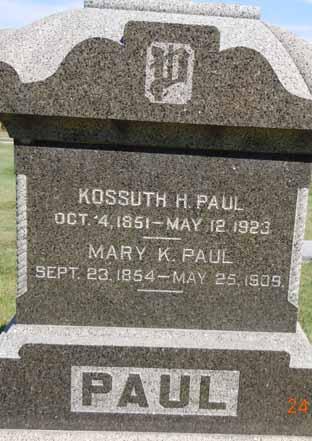 PAUL, KOSSUTH H - Dallas County, Iowa   KOSSUTH H PAUL