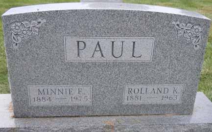 PAUL, ROLLAND K - Dallas County, Iowa   ROLLAND K PAUL
