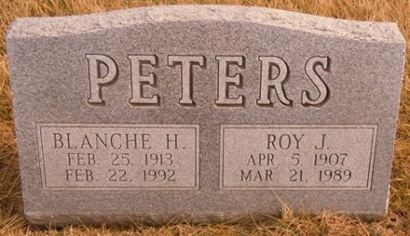 PETERS, BLANCHE H. - Dallas County, Iowa   BLANCHE H. PETERS