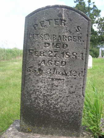 PITSENBARGER, PETER S. - Dallas County, Iowa | PETER S. PITSENBARGER