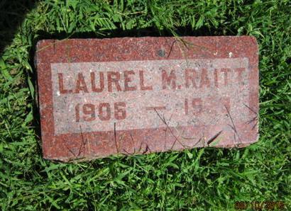 RAITT, LAUREL M - Dallas County, Iowa   LAUREL M RAITT