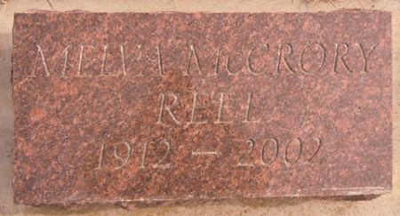 MCCRORY REEL, MELVA - Dallas County, Iowa | MELVA MCCRORY REEL