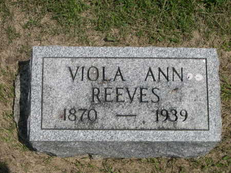 REEVES, VIOLA ANN - Dallas County, Iowa | VIOLA ANN REEVES