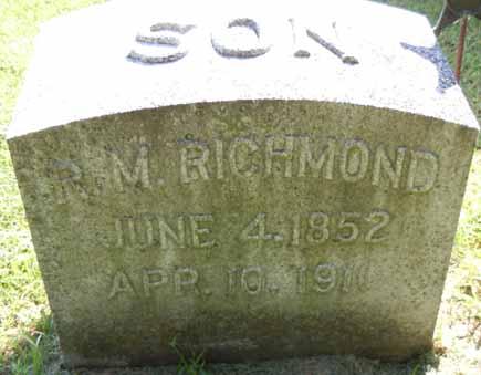 RICHMOND, R M - Dallas County, Iowa | R M RICHMOND