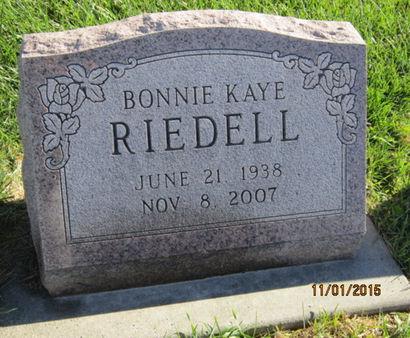RIEDELL, BONNIE KAYE - Dallas County, Iowa   BONNIE KAYE RIEDELL