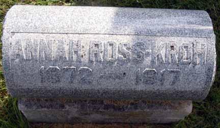 ROSS ROSS-KROH, ANNA H - Dallas County, Iowa | ANNA H ROSS ROSS-KROH