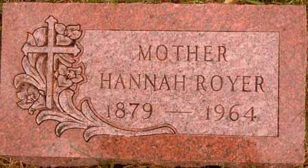 ROYER, HANNAH - Dallas County, Iowa | HANNAH ROYER