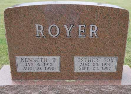 FOX ROYER, ESTHER - Dallas County, Iowa | ESTHER FOX ROYER