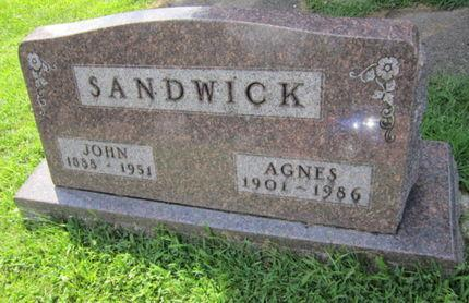 SANDWICK, AGNES - Dallas County, Iowa | AGNES SANDWICK