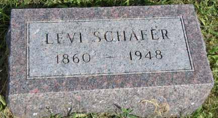SCHAFER, LEVI - Dallas County, Iowa   LEVI SCHAFER