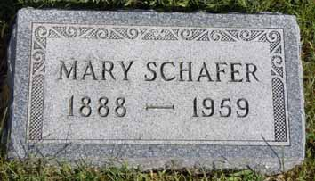 SCHAFER, MARY - Dallas County, Iowa | MARY SCHAFER