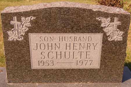 SCHULTE, JOHN HENRY - Dallas County, Iowa | JOHN HENRY SCHULTE